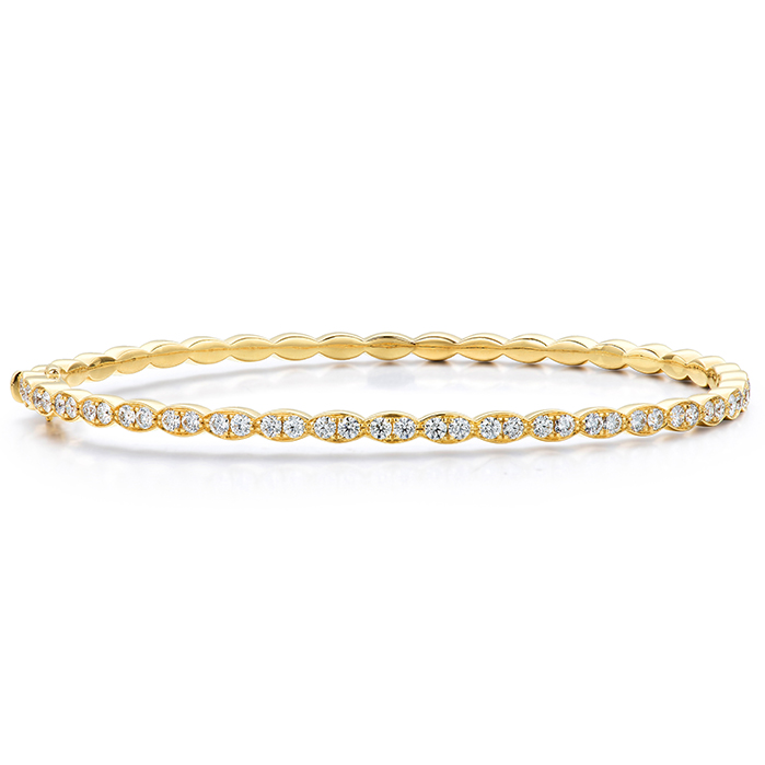 1.12 ctw. Lorelei Floral Diamond Bangle in 18K Yellow Gold