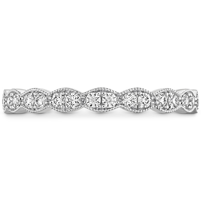 0.25 ctw. Lorelei Floral Milgrain Diamond Band in Platinum
