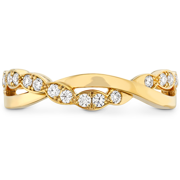 0.2 ctw. Lorelei Floral Twist Band in 18K Yellow Gold