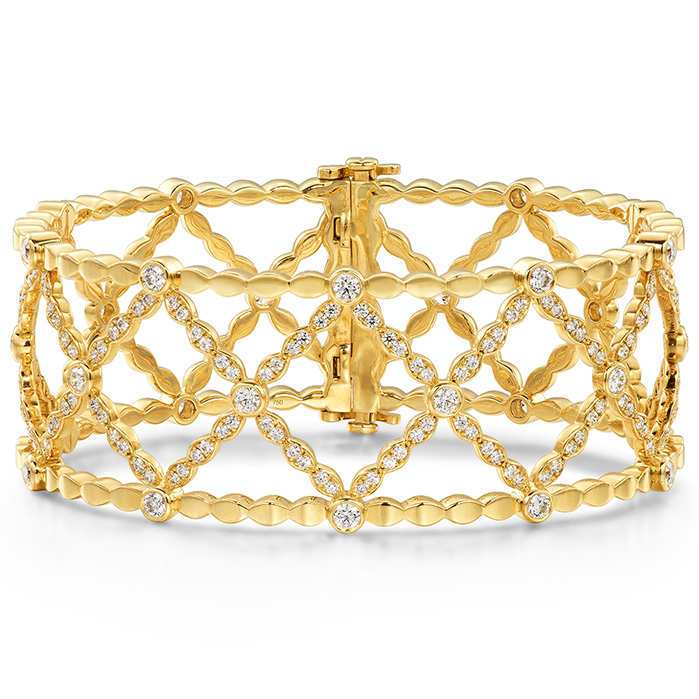 2.45 ctw. Lorelei Lattice Diamond Bangle in 18K Rose Gold