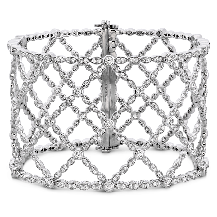 8.3 ctw. Lorelei Lattice Diamond Intensive Bangle in 18K White Gold