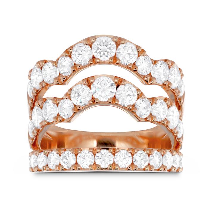 2.5 ctw. Lorelei Triple Wave Diamond Ring in 18K White Gold