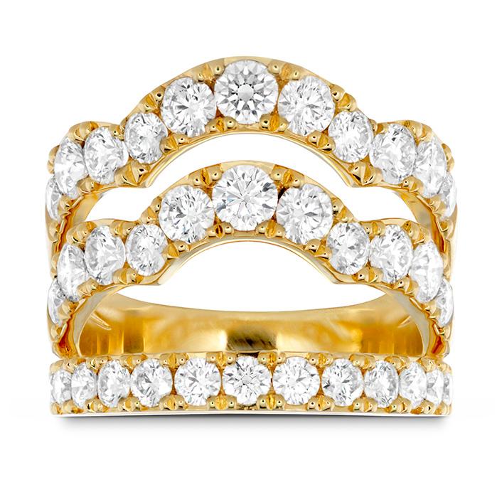 2.5 ctw. Lorelei Triple Wave Diamond Ring in 18K Yellow Gold