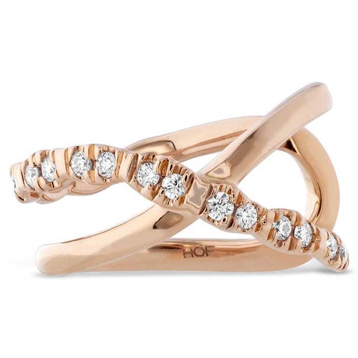 0.05 ctw. Lorelei Criss Cross Ear Cuff in 18K Rose Gold