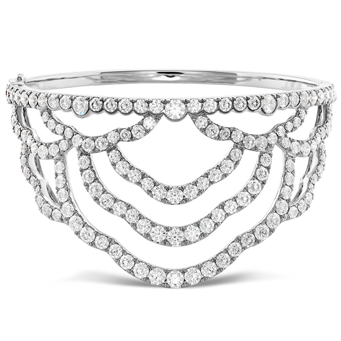 8.95 ctw. Lorelei Chandelier Diamond Cuff in 18K White Gold