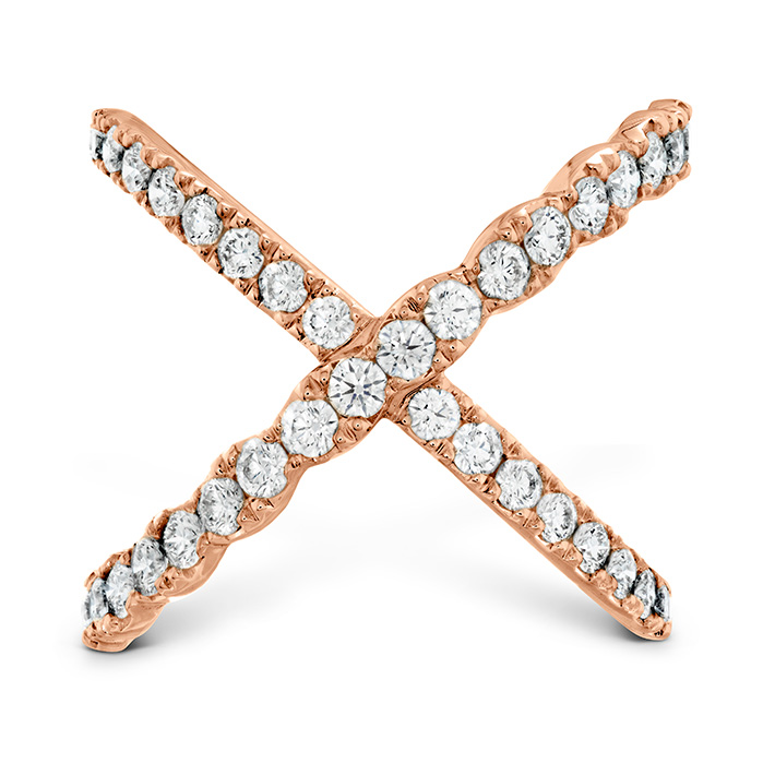 1 ctw. Lorelei Diamond Criss Cross Ring in 18K Rose Gold