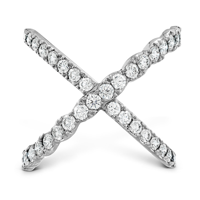1 ctw. Lorelei Diamond Criss Cross Ring in 18K White Gold