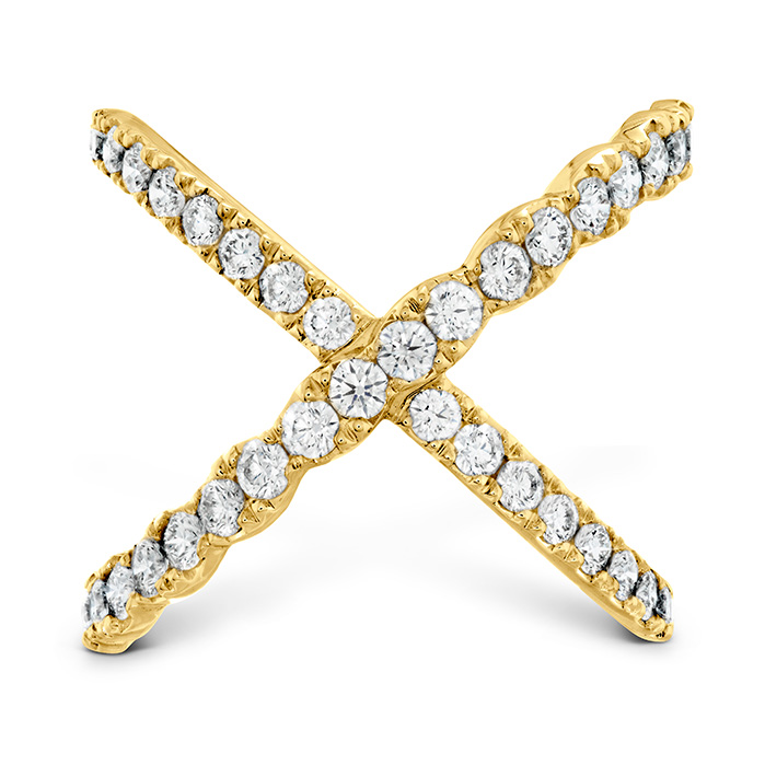 1 ctw. Lorelei Diamond Criss Cross Ring in 18K Yellow Gold