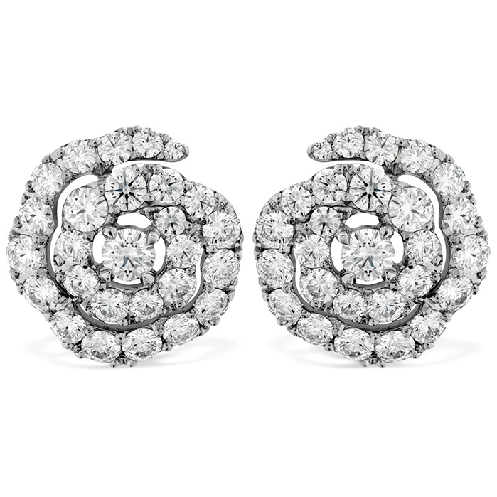 1.9 ctw. Lorelei Diamond Floral Earrings in 18K White Gold
