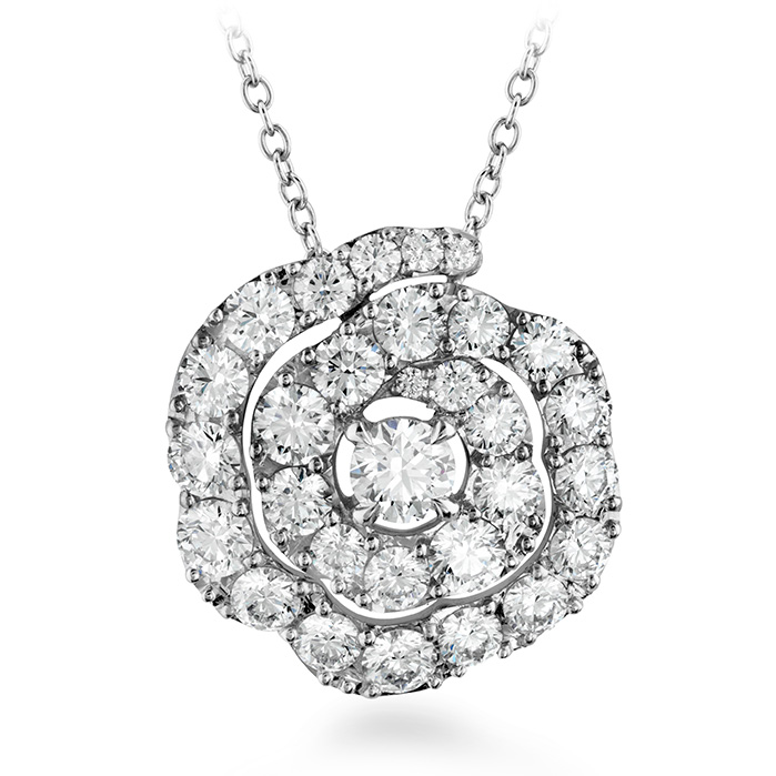 1.75 ctw. Lorelei Diamond Floral Pendant in 18K White Gold