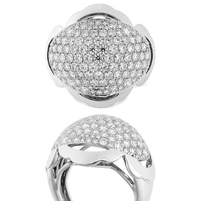 2.3 ctw. Lorelei Dome Right Hand Ring in 18K White Gold