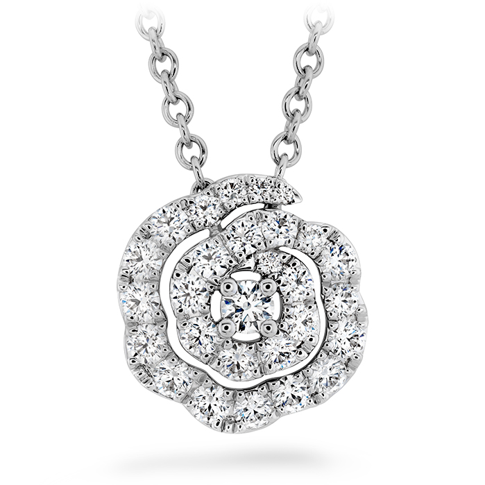 0.27 ctw. Lorelei Diamond Floral Pendant - Small in 18K Yellow Gold