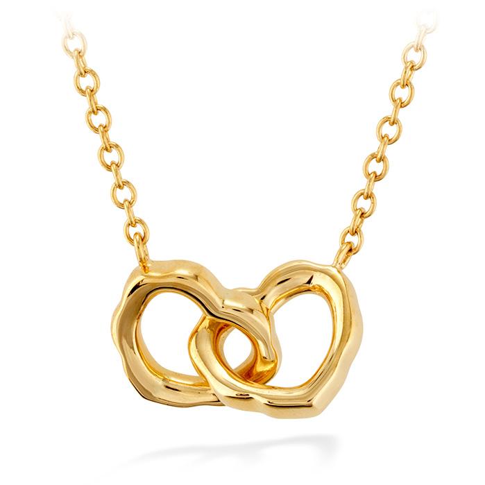 0.05 ctw. Lorelei Interlocking Heart Necklace in 18K White Gold