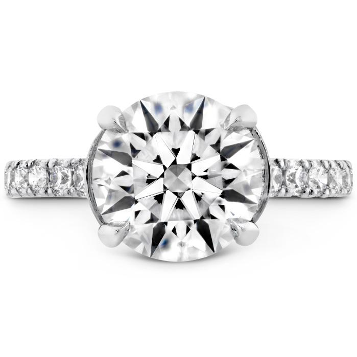The Luna Diamond Ring in Platinum