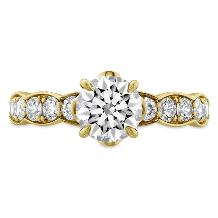 0.59 ctw. Luxe Lorelei Floral Diamond Ring in 18K Yellow Gold