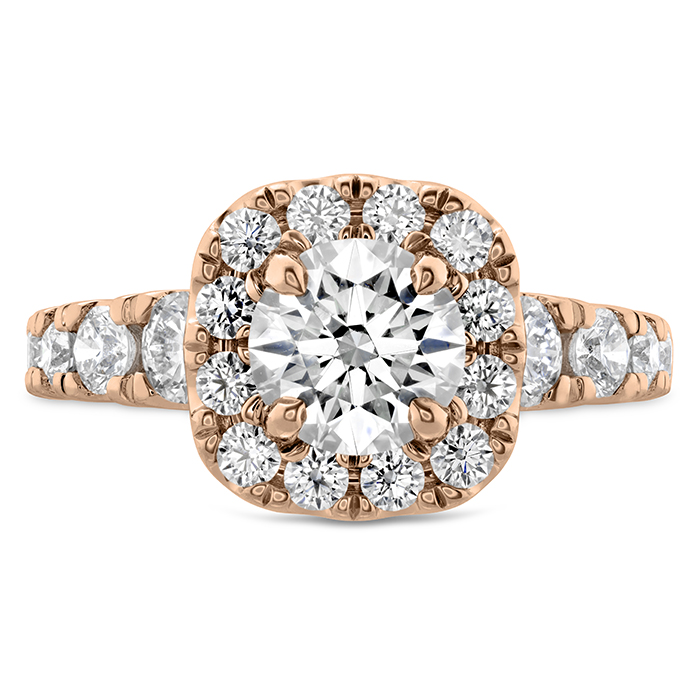 1.17 ctw. Luxe Transcend Premier Custom Halo Diamond Ring in 18K Rose Gold