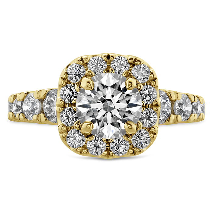 1.17 ctw. Luxe Transcend Premier Custom Halo Diamond Ring in 18K Yellow Gold