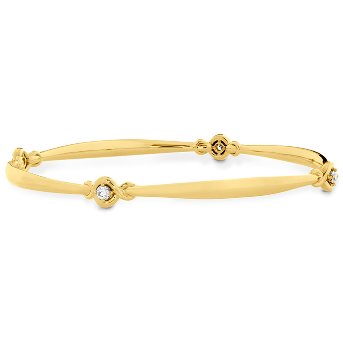 0.3 ctw. Optima Four Station Diamond Bangle in 18K Yellow Gold