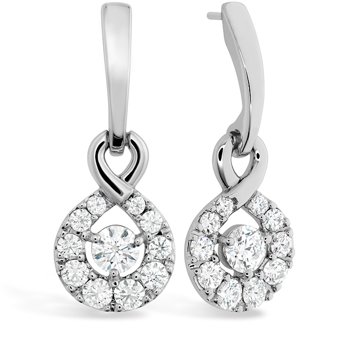 0.9 ctw. Optima Diamond Drop Earrings in 18K White Gold