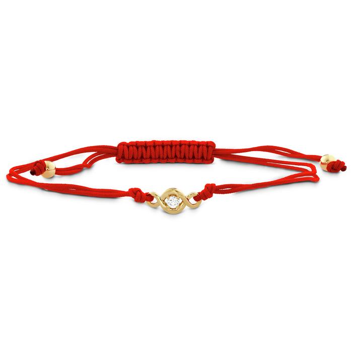 0.07 ctw. Optima Single Diamond Cord Bracelet in 18K Yellow Gold