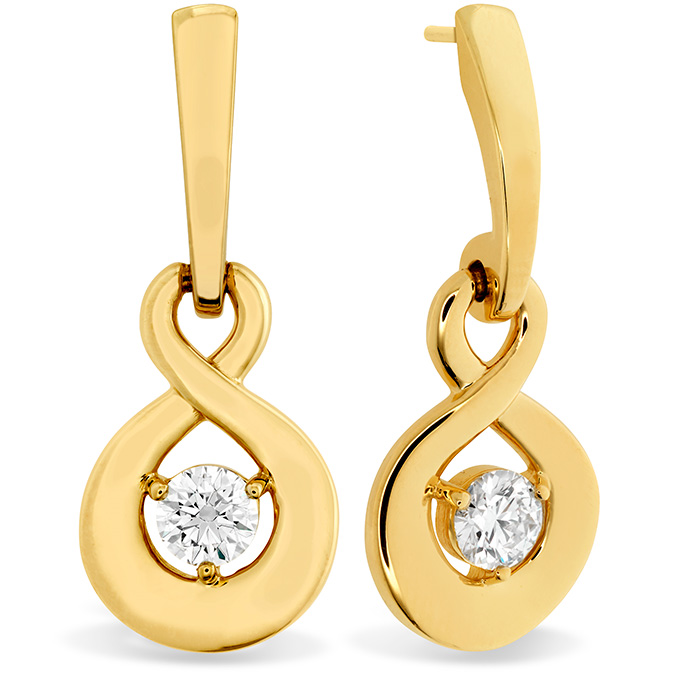 0.35 ctw. Optima Single Diamond Drop Earrings in 18K Yellow Gold
