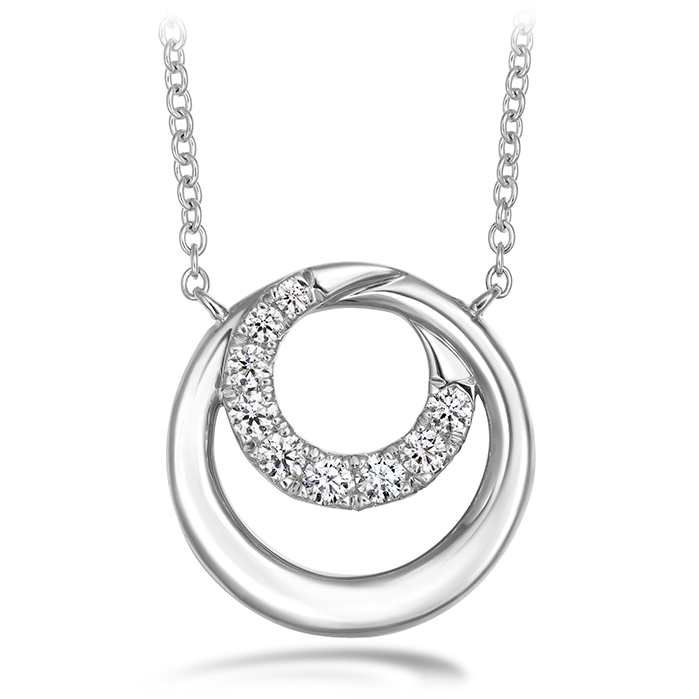 0.19 ctw. Optima Circle Pendant in Platinum