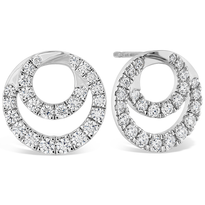 1.15 ctw. Optima Diamond Circle Earrings in 18K White Gold