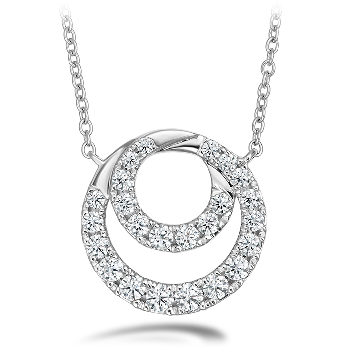 0.57 ctw. Optima Diamond Circle Pendant in 18K White Gold