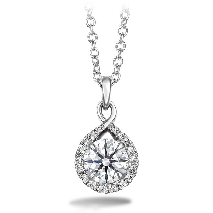 0.4 ctw. Optima Diamond Drop Pendant in 18K White Gold