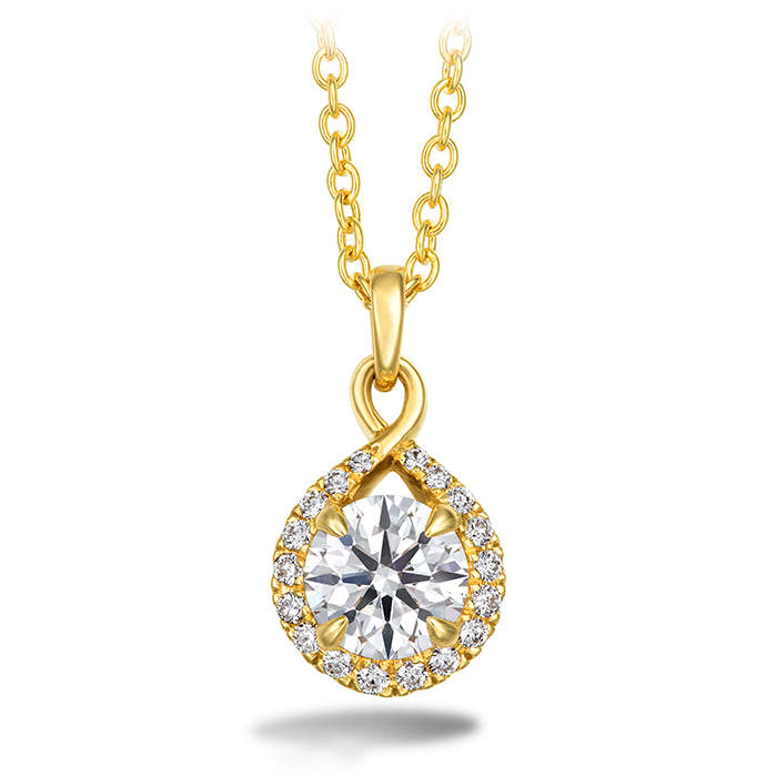 0.56 ctw. Optima Diamond Drop Pendant in 18K Yellow Gold