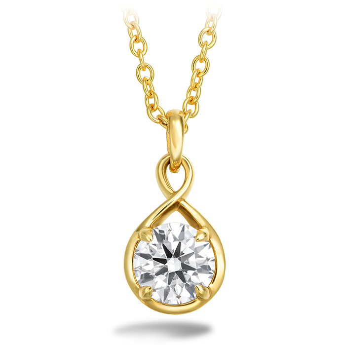 0.34 ctw. Optima Drop Pendant in 18K Yellow Gold
