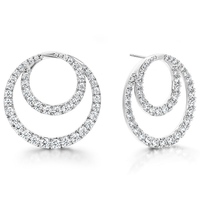 4.64 ctw. Optima Diamond Circle Earrings- Large in 18K Rose Gold