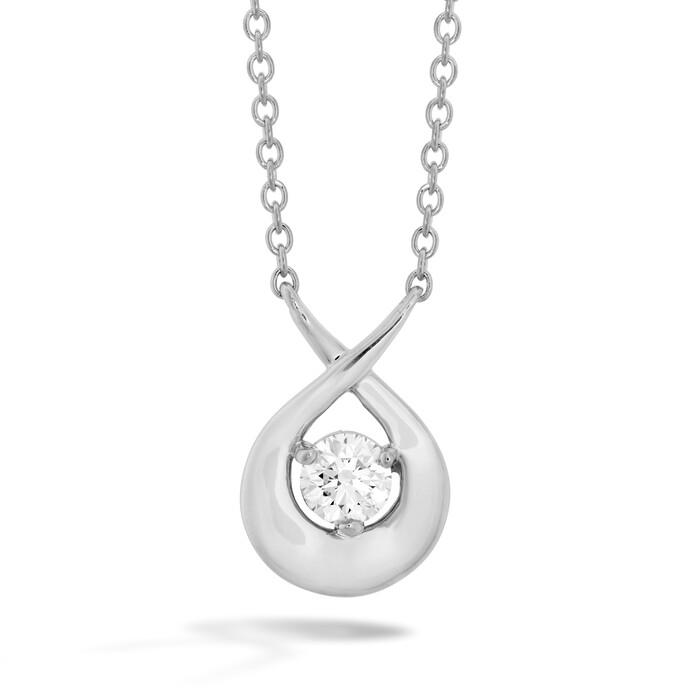 0.25 ctw. Optima Single Diamond Pendant in 18K Rose Gold