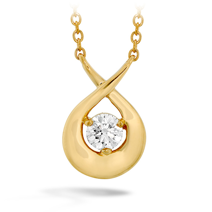 0.25 ctw. Optima Single Diamond Pendant in 18K Rose Gold