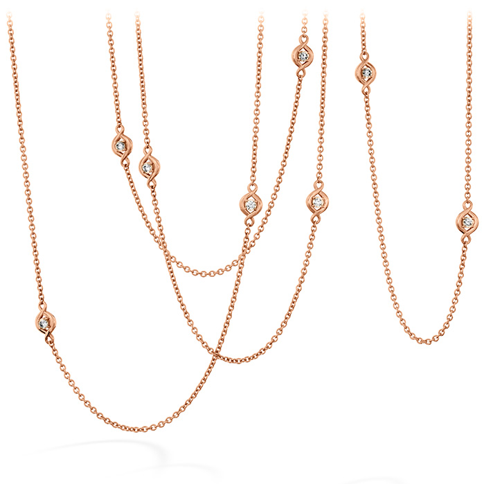 1.04 ctw. Optima Station Necklace in 18K Rose Gold