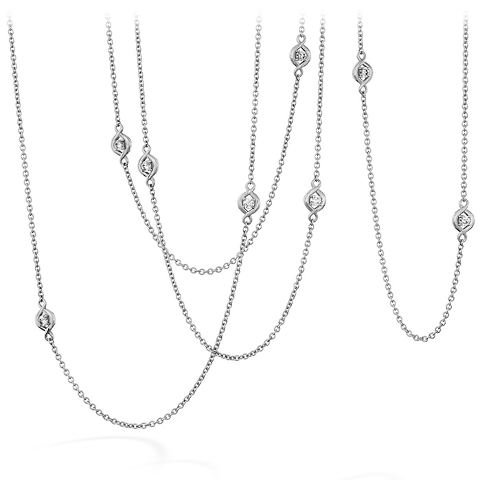 1.04 ctw. Optima Station Necklace in 18K White Gold
