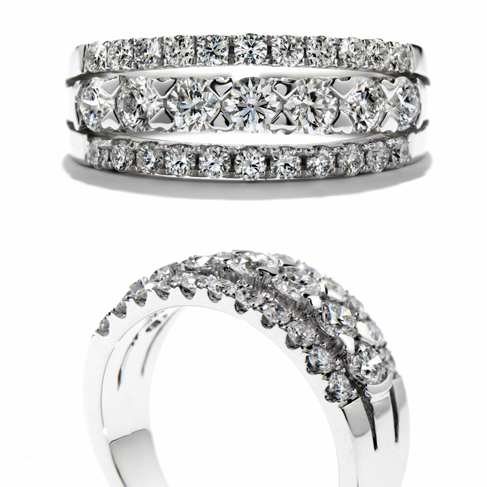 1.25 ctw. Enjoyment Right Hand Ring in 18K White Gold