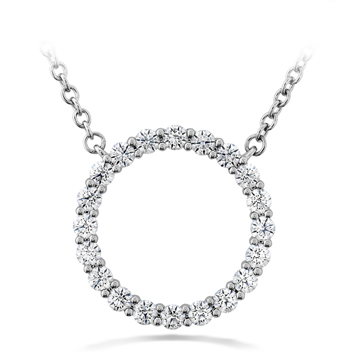 0.4 ctw. Signature Circle Pendant - Medium in 18K White Gold