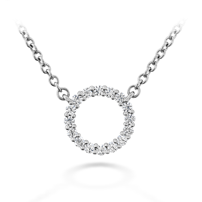 0.12 ctw. Signature Circle Pendant - Small in 18K White Gold