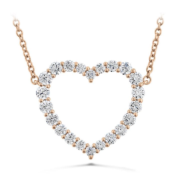 0.67 ctw. Signature Heart Pendant - Large in 18K Rose Gold