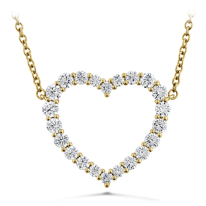 0.67 ctw. Signature Heart Pendant - Large in 18K Yellow Gold