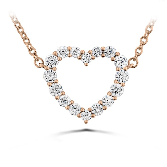 0.39 ctw. Signature Heart Pendant - Medium in 18K Rose Gold