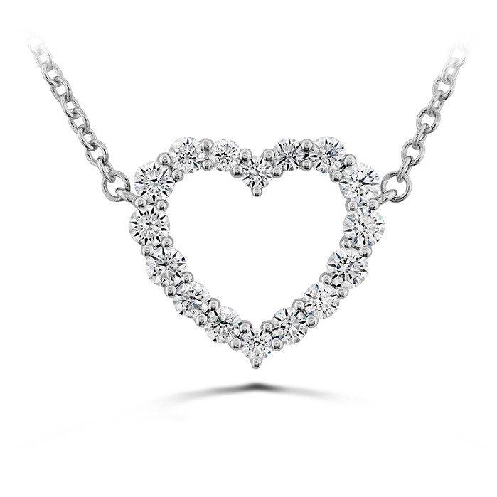 0.39 ctw. Signature Heart Pendant - Medium in 18K White Gold