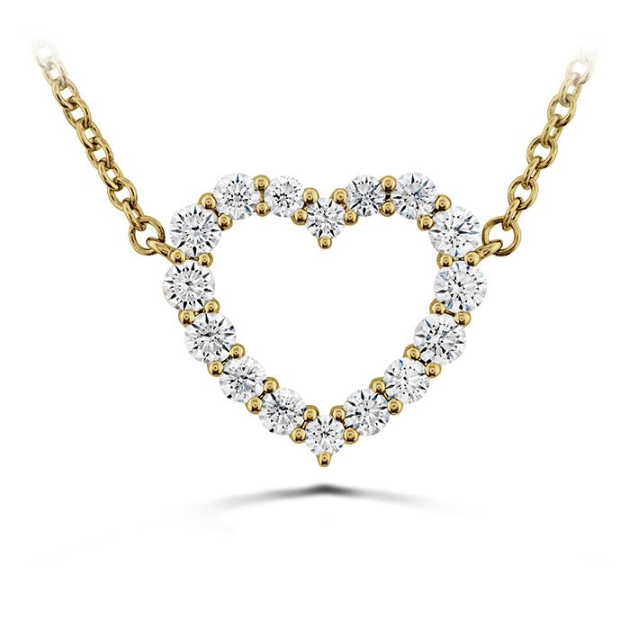0.39 ctw. Signature Heart Pendant - Medium in 18K Yellow Gold