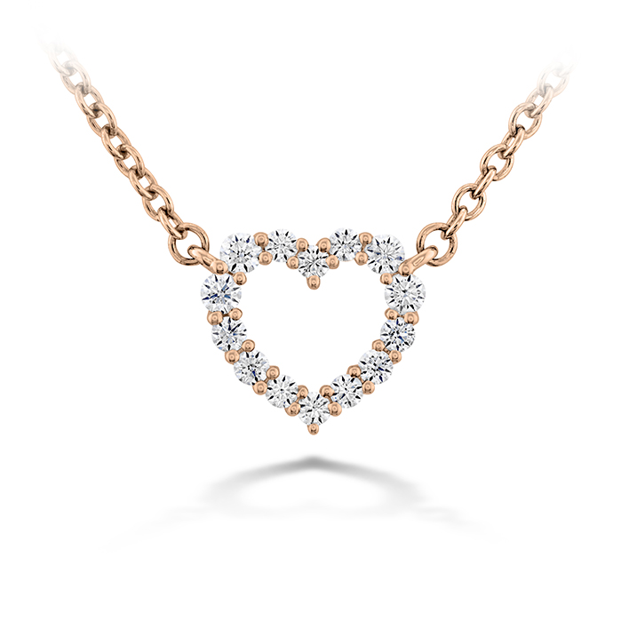 0.11 ctw. Signature Heart Pendant - Small in 18K Rose Gold