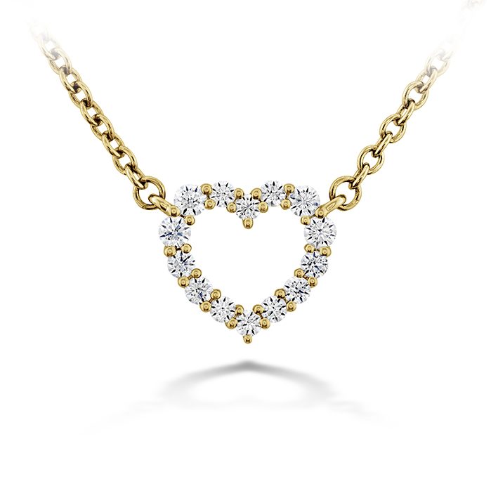 0.11 ctw. Signature Heart Pendant - Small in 18K Yellow Gold