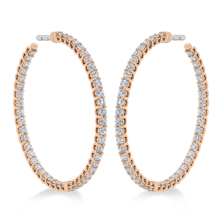 2.22 ctw. Signature Inside Out Hoop - Medium in 18K Rose Gold