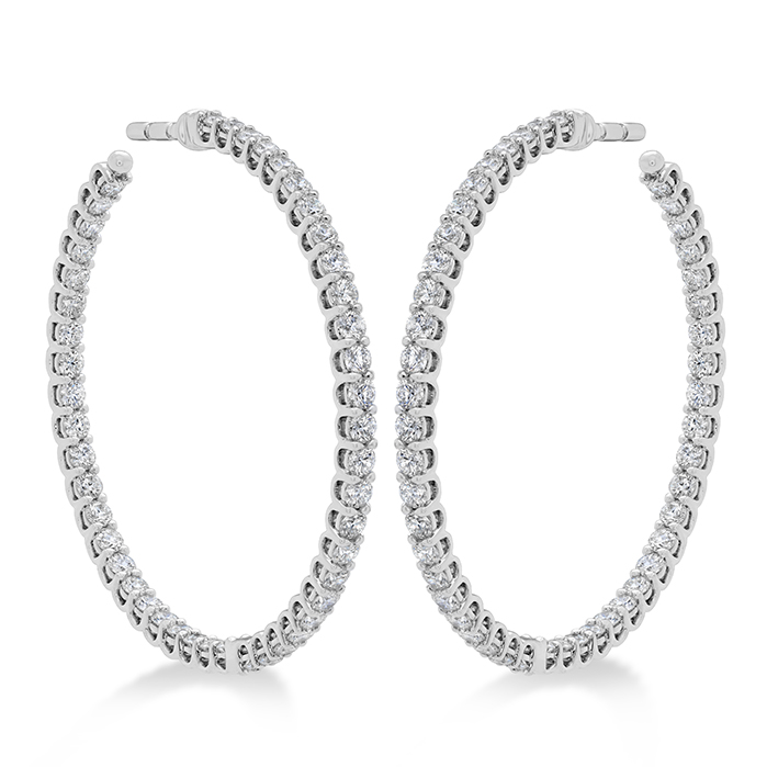 2.22 ctw. Signature Inside Out Hoop - Medium in 18K White Gold