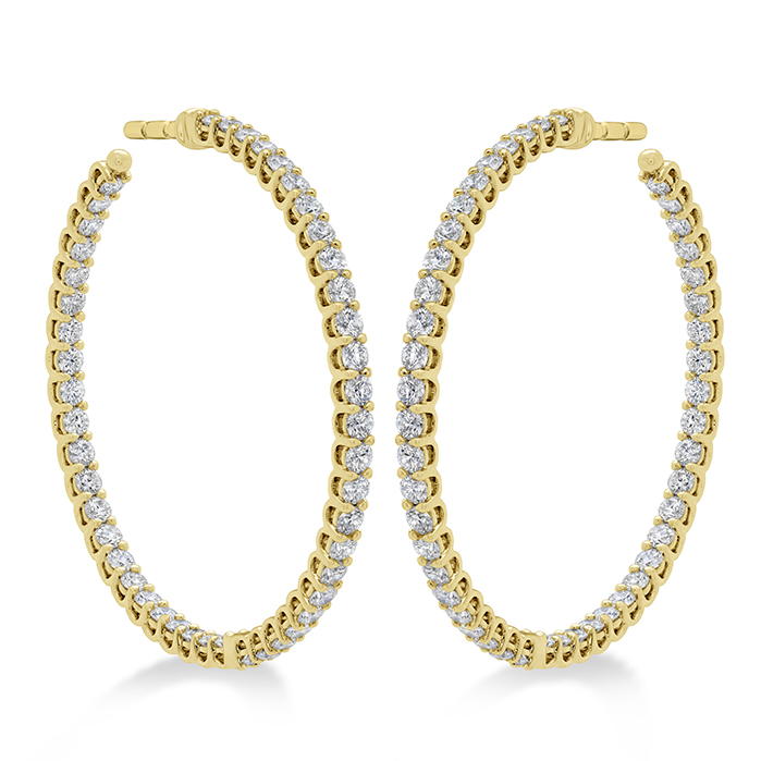 2.22 ctw. Signature Inside Out Hoop - Medium in 18K Yellow Gold