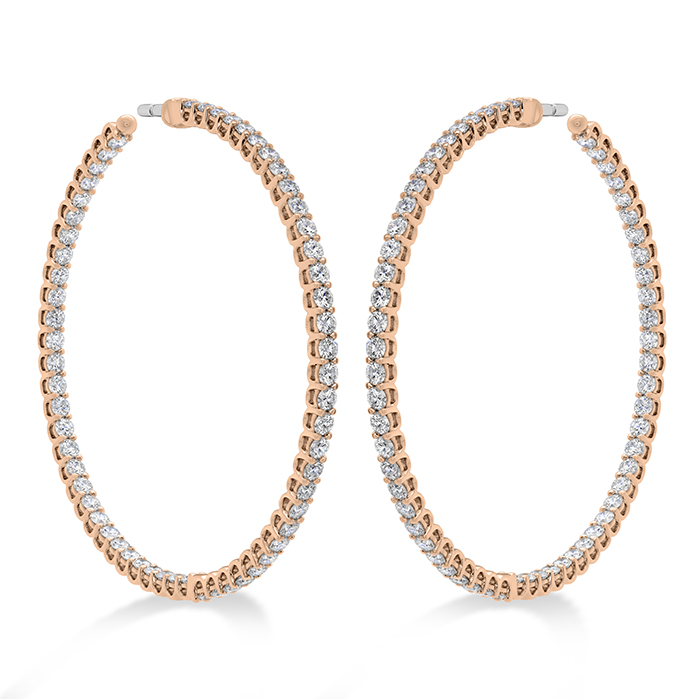 3.24 ctw. Signature Inside Out Hoop - Large in 18K Rose Gold